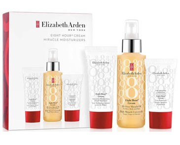 Giftset Elizabeth Arden Eight Hour Cream Miracle Moisturizers 3pcs Red Box