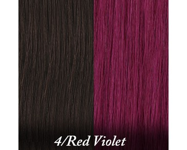 Clip-on Crazy Colours - 4-Red Violet
