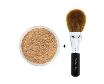 Bare Minerals Foundation Fairly Light 8g + Flawless face brush