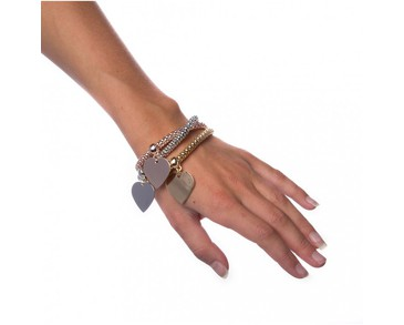 Armband Mixed Metals - Heart