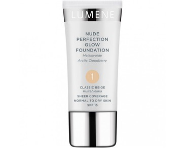 Lumene Nude Perfection Glow Foundation SPF15 - 1 Classic Beige 30ml