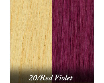 Clip-on Crazy Colours - 20-Red Violet
