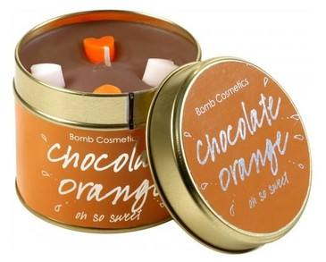 Bomb Cosmetics Tin Candle Chocolate Orange