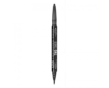 NYX PROF. MAKEUP Two Timer Dual Eyeliner - Black