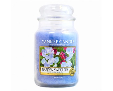 Yankee Candle Classic Large Jar Garden Sweet Pea Candle 623g