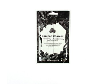 Vitamasques Bamboo Charcoal (1 pc) Detoxifying + Pore Tightening