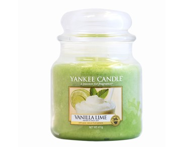 Yankee Candle Classic Medium Jar Vanilla Lime Candle 411g