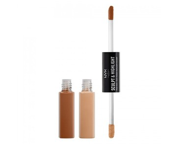 NYX PROF. MAKEUP Sculpt & Highlight Face Duo Caramel