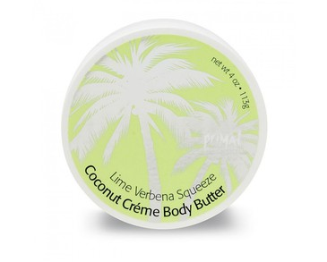 Primal Elements Coconut Creme Body Butter Lime Verbena Squeeze 300ml